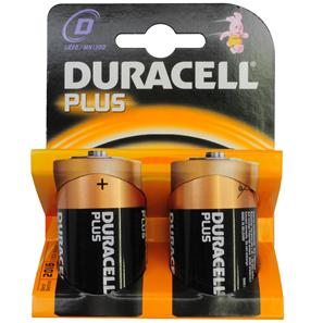 Duracell Batteries D MN1300 2 Pack
