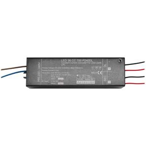 1-10V Dimmable LED Driver (Constant Current) Black 36W 700mA