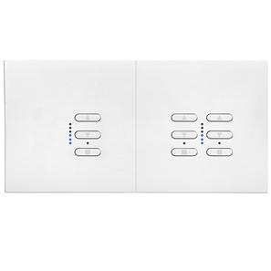 Wise Fusion Dimmer Master Wired 1 x 1 Gang + 1 x 2 Gang 240V White 1 x 450W, 2 x 250W