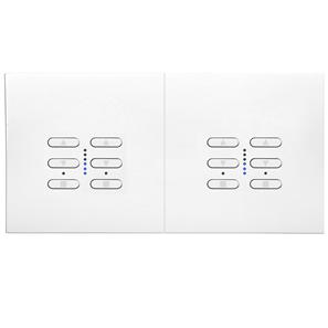 Wise Fusion Dimmer Master Wired 2 x 2 Gang 240V White 4 x 250W