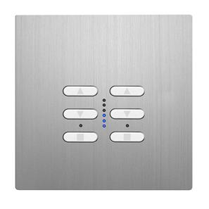 Wise Fusion Dimmer Master Wired 2 Gang 240V Aluminium 2 x 250W