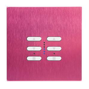 Wise Fusion Dimmer Master Wired 2 Gang 240V Pink Aluminium 2 x 250W