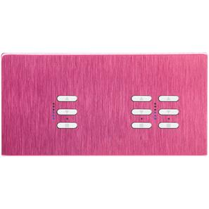 Wise Fusion Dimmer Master Wired 3 Gang 240V Pink Aluminium 1 x 450W, 2 x 250W