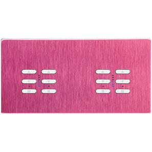 Wise Fusion Dimmer Master Wired 4 Gang 240V Pink Aluminium 4 x 250W