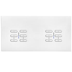 Wise Fusion Dimmer Master Wired 4 Gang 240V Satin White Aluminium 4 x 250W