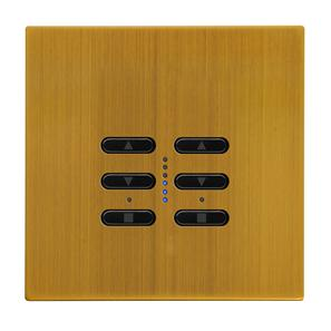 Wise Fusion Dimmer Master Wired 2 Gang 240V Antique Brass 2 x 250W