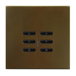 Wise Fusion Dimmer Master Wired 2 Gang 240V Antique Bronze 2 x 250W