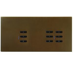 Wise Fusion Dimmer Master Wired 3 Gang 240V Antique Bronze 1 x 450W, 2 x 250W