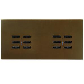 Wise Fusion Dimmer Master Wired 4 Gang 240V Antique Bronze 4 x 250W