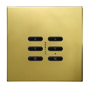 Wise Fusion Dimmer Master Wired 2 Gang 240V Polished Brass 2 x 250W