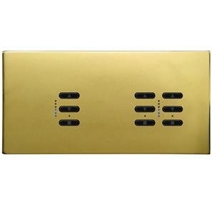 Wise Fusion Dimmer Master Wired 3 Gang 240V Polished Brass 1 x 450W, 2 x 250W