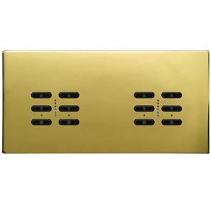 Wise Fusion Dimmer Master Wired 4 Gang 240V Polished Brass 4 x 250W