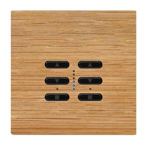 Wise Fusion Dimmer Master Wired 2 Gang 240V Oak 2 x 250W