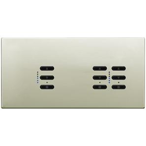 Wise Fusion Dimmer Master Wired 3 Gang 240V Polished Nickel 1 x 450W, 2 x 250W