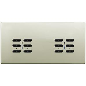 Wise Fusion Dimmer Master Wired 4 Gang 240V Polished Nickel 4 x 250W