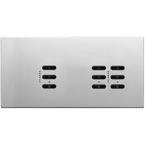 Wise Fusion Dimmer Master Wired 3 Gang 240V Polished Stainless Steel 1 x 450W, 2 x 250W