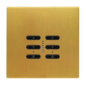 Wise Fusion Dimmer Master Wired 2 Gang 240V Satin Brass 2 x 250W