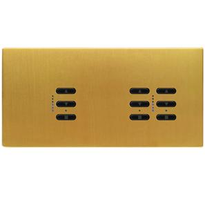 Wise Fusion Dimmer Master Wired 3 Gang 240V Satin Brass 1 x 450W, 2 x 250W