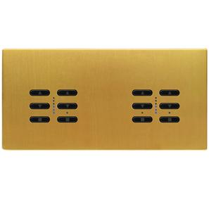 Wise Fusion Dimmer Master Wired 4 Gang 240V Satin Brass 4 x 250W