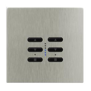 Wise Fusion Dimmer Master Wired 2 Gang 240V Satin Nickel 2 x 250W