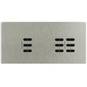 Wise Fusion Dimmer Master Wired 3 Gang 240V Satin Nickel 1 x 450W, 2 x 250W