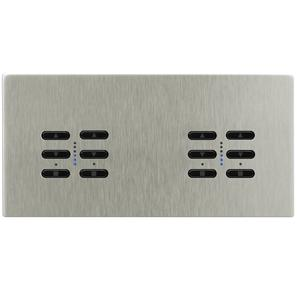 Wise Fusion Dimmer Master Wired 4 Gang 240V Satin Nickel 4 x 250W