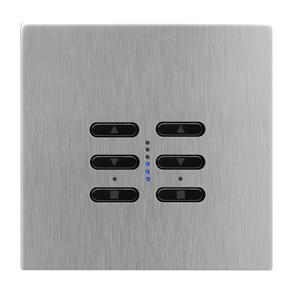 Wise Fusion Dimmer Master Wired 2 Gang 240V Satin Stainless Steel 2 x 250W