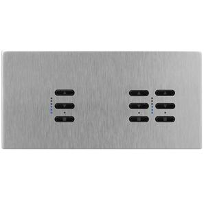 Wise Fusion Dimmer Master Wired 3 Gang 240V Satin Stainless Steel 1 x 450W, 2 x 250W