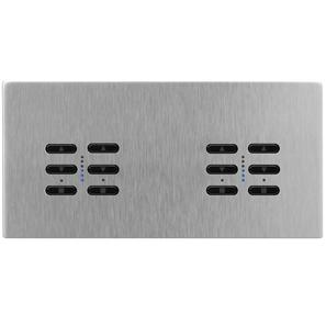 Wise Fusion Dimmer Master Wired 4 Gang 240V Satin Stainless Steel 4 x 250W