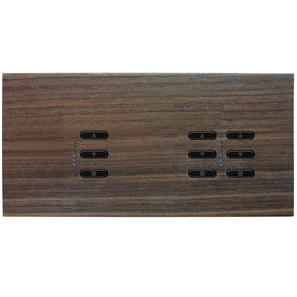 Wise Fusion Dimmer Master Wired 3 Gang 240V Walnut 1 x 450W, 2 x 250W