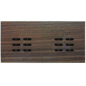 Wise Fusion Dimmer Master Wired 4 Gang 240V Walnut 4 x 250W
