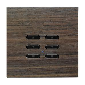 Wise Fusion Dimmer Slave Wireless 2 Gang Walnut 3V