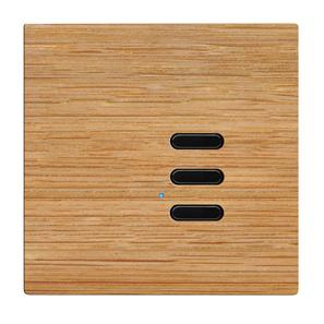 Wise Switch 3 Channel Oak 3V