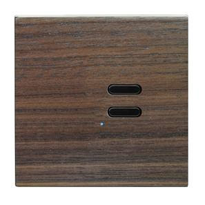Wise Switch 2 Channel Walnut 3V