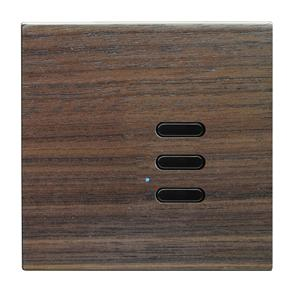 Wise Switch 3 Channel Walnut 3V
