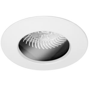 Fixed Downlight 50 IP54 Clear 12V 50W Matt White
