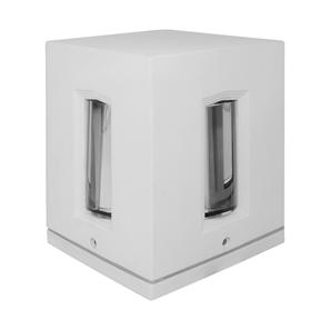Cross Square Wall Light 240V 100W White