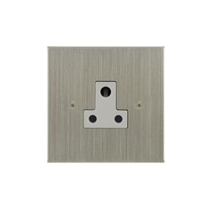 Light Socket 1 gang 5 amp unswitched socket outlet Satin Nickel