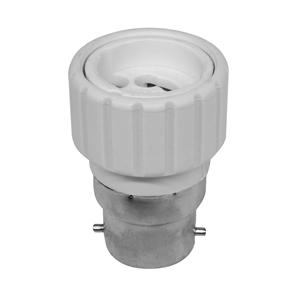 BC to GU10 Lamp Holder Adaptor  White