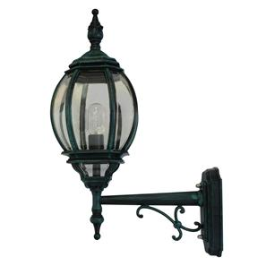 Lantern Wall Up 240V 100W Black Green