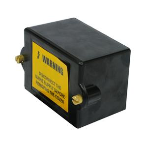 Insulated Connector Box Double Pole Black 60A