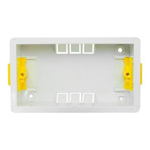 Double Plate Plasterboard Back Box Plastic 35mm