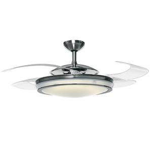 Fanaway Retractable Blade Ceiling Fan Polished Chrome 1220mm