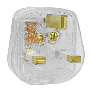 UK Mains Plug Clear 13A