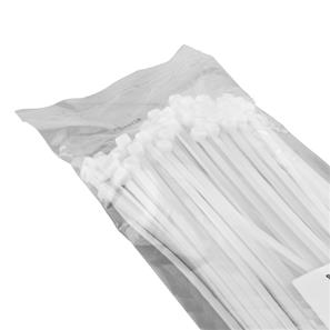 100 Cable Ties White 140mm