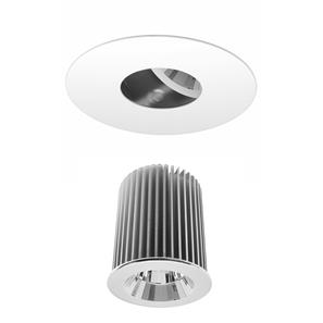 Invisible Round Glass Downlight IP54 Reality LED & Driver 10W (=100W) 2700K Warm White 45�