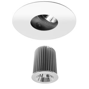 Invisible Round Glass Downlight IP54 Reality LED & Driver 10W (=100W) 2700K Warm White 45°