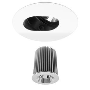 Invisible Round Camera Downlight Reality LED & Driver 10W (=100W) 2700K Warm White 45°