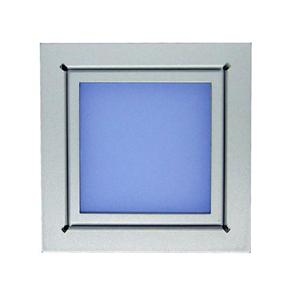 Window 240V Silver / Frosted Glass Blue