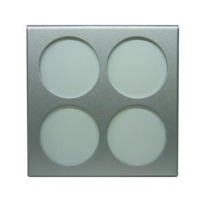 Window Frame Only 240V Silver / Round Window Frosted Glass